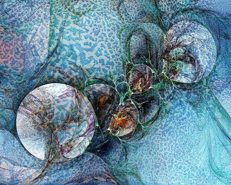 Digital Art Digital Art - Remains Of A Mosaic by Amanda Moore