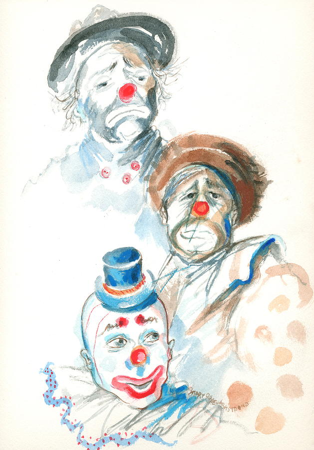 Remember The Clowns Painting  - Remember The Clowns Fine Art Print