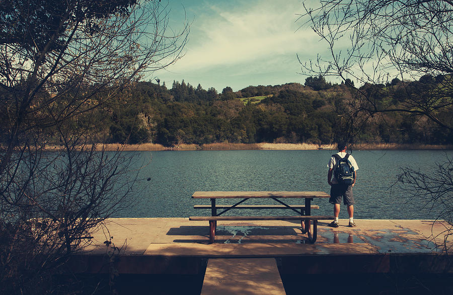 Lafayette Reservoir Recreation Area Photograph - Remembering When by Laurie Search