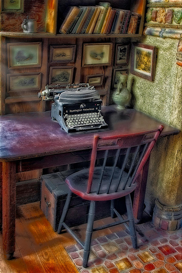 Remington Noiseless No 6 Typewriter Photograph  - Remington Noiseless No 6 Typewriter Fine Art Print