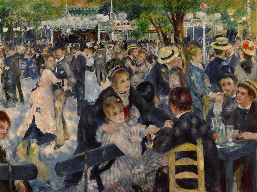 1876 Painting - Renoir Moulin De Galette by Granger