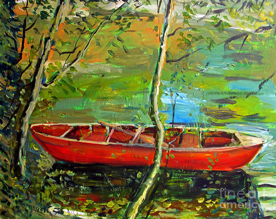 Renoirs Canoe Painting