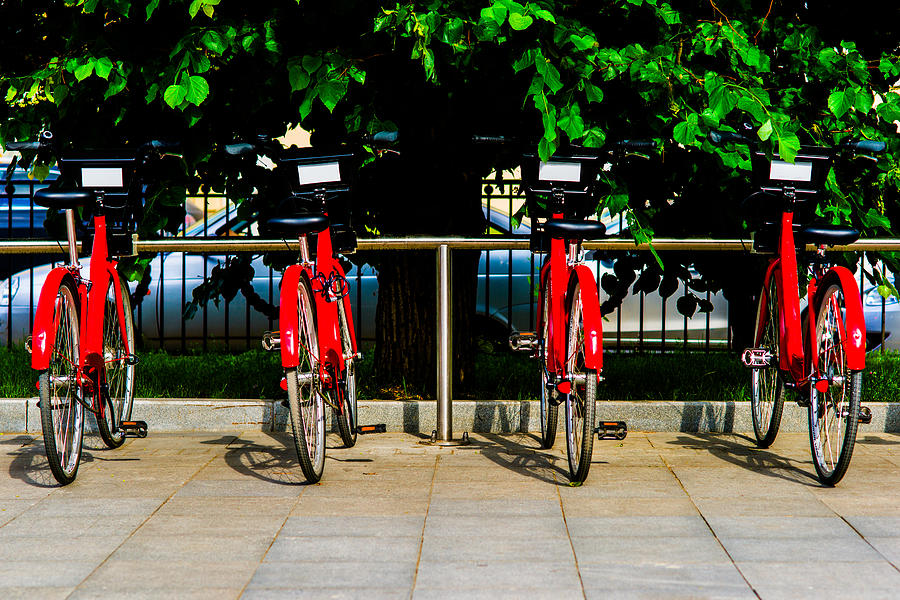Rent-a-bike - Featured 3 Photograph  - Rent-a-bike - Featured 3 Fine Art Print