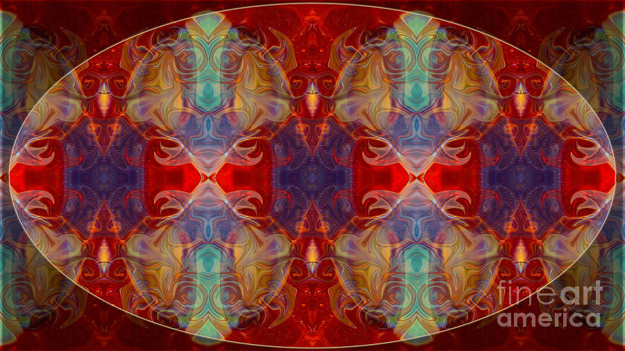 16x9 Digital Art - Repeating Realities Abstract Pattern Artwork By Omaste Witkowski by Omaste Witkowski