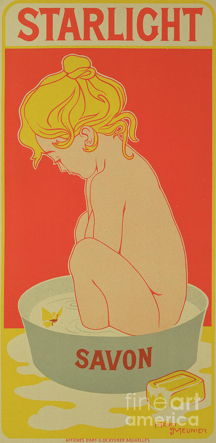 Reproduction Of A Poster Advertising Starlight Soap Drawing