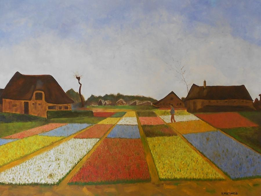 Reproduction Of Flower Beds In Holland Painting