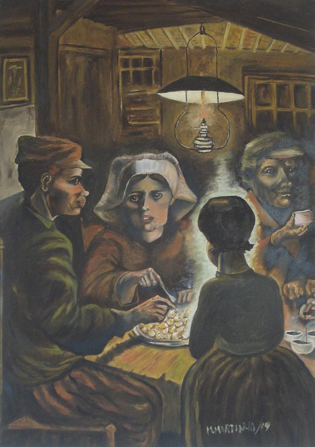 Reproduction Of The Potato Eaters Painting