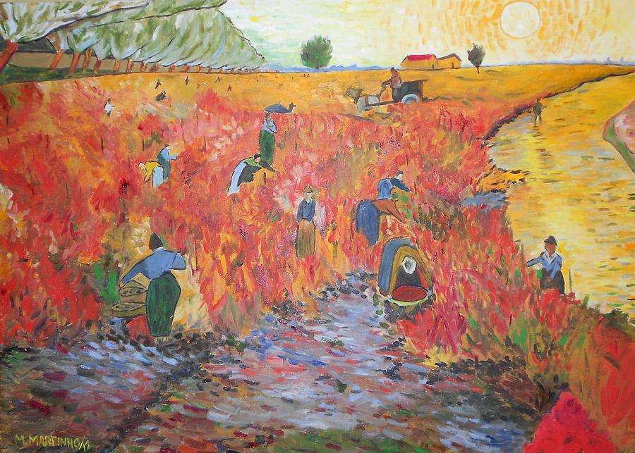 Reproduction Of The Red Vineyard Painting  - Reproduction Of The Red Vineyard Fine Art Print