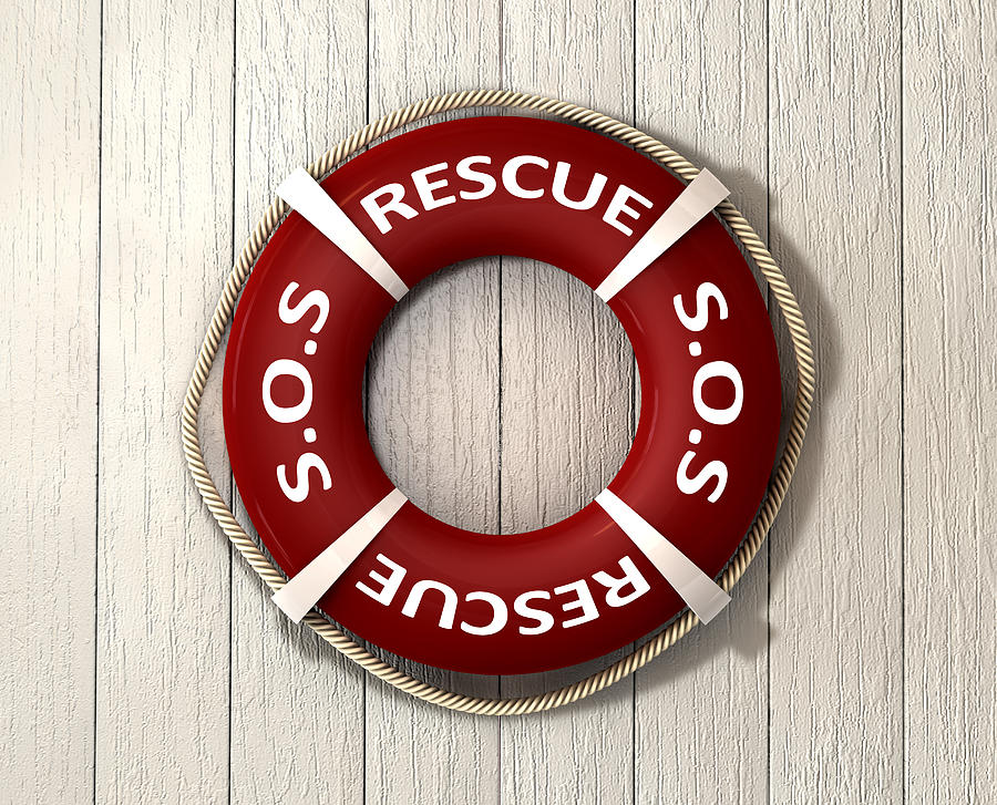 Rescue Lifebuoy Digital Art