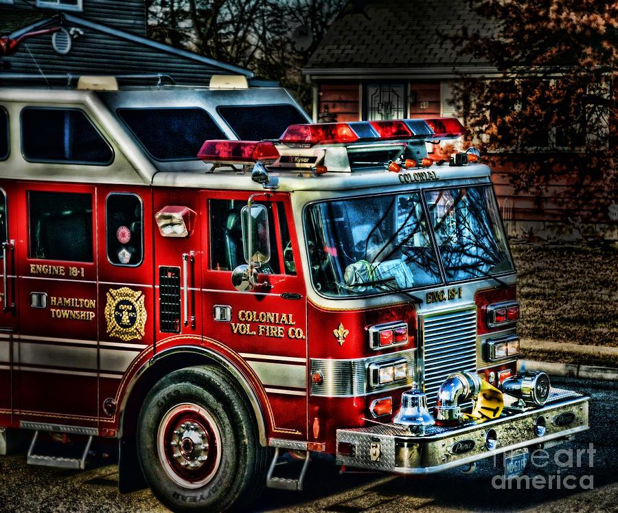 Fire Photograph - Responding by Arnie Goldstein