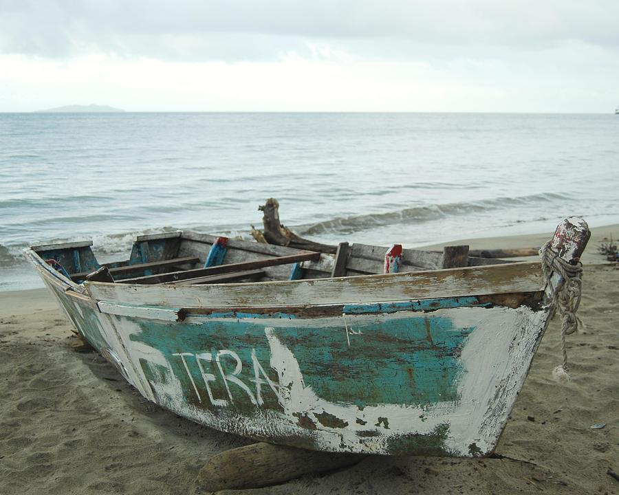 Resting Fishing Boat Photograph