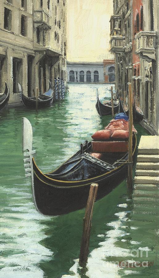 Resting Gondola Painting
