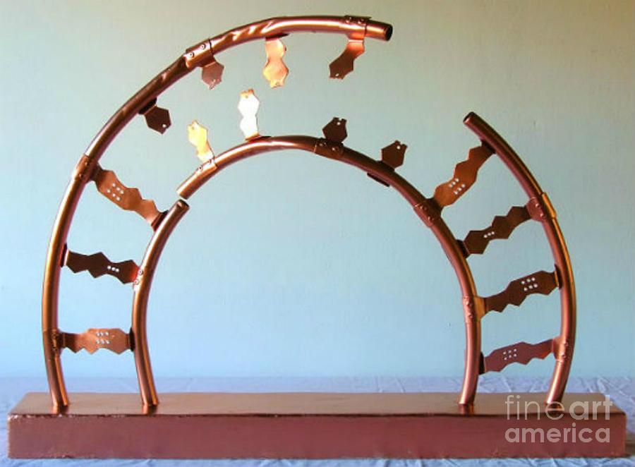Dna Sculpture - Restriction Site by Franco Divi