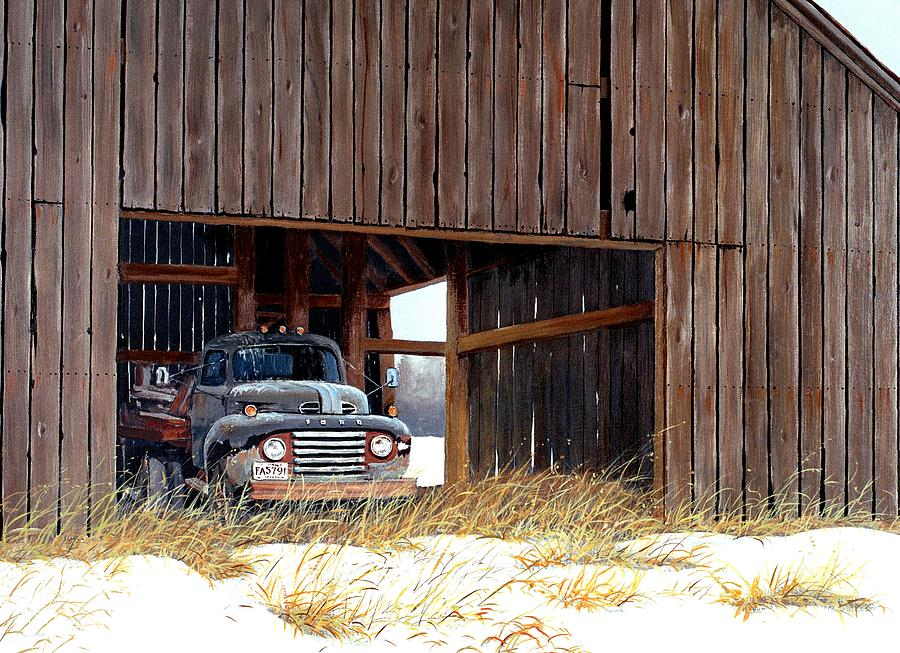 Retired Truck Painting - Retired by Michael Swanson