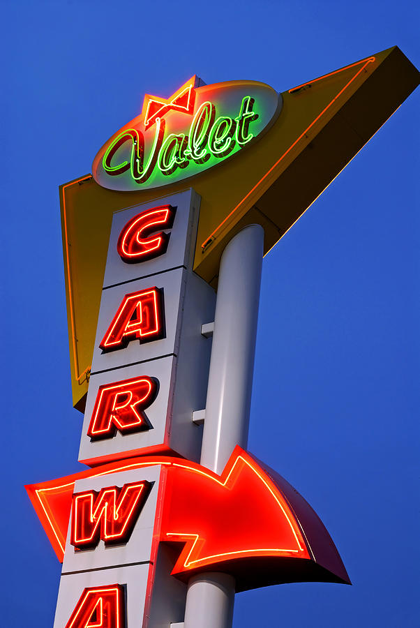 Car Wash Photograph - Retro Car Wash Sign by Norman Pogson