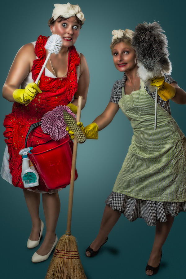 Retro Housewives II Photograph  - Retro Housewives II Fine Art Print