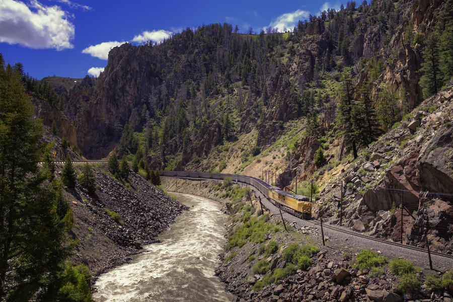Train Photograph - Retro by Joan Carroll