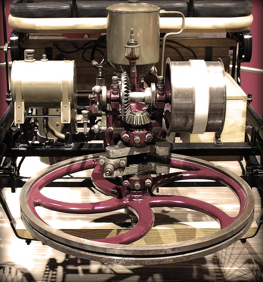 Engine Photograph - Retro Mercedes Engine by Radoslav Nedelchev
