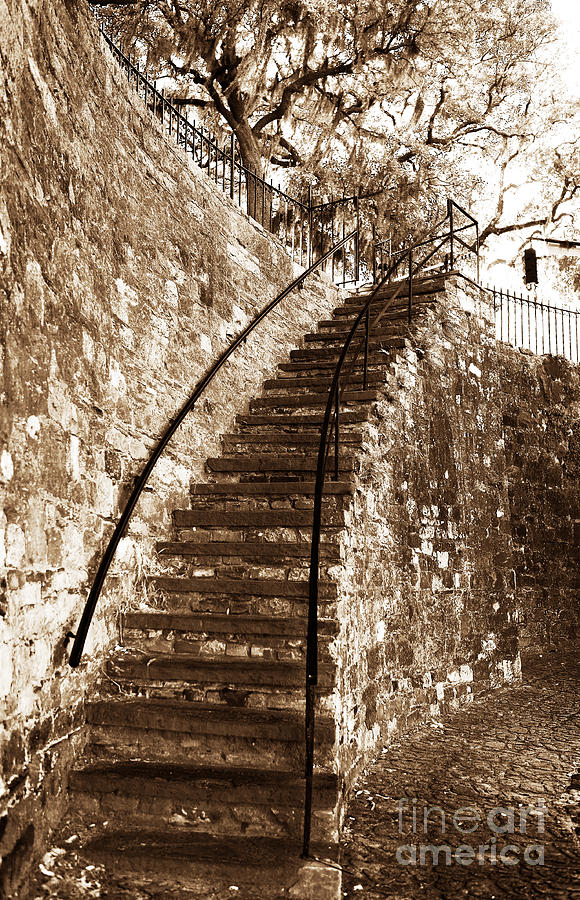 Retro Stairs In Savannah Photograph  - Retro Stairs In Savannah Fine Art Print