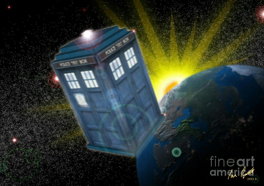 Return Of The Time Lord. Digital Art  - Return Of The Time Lord. Fine Art Print