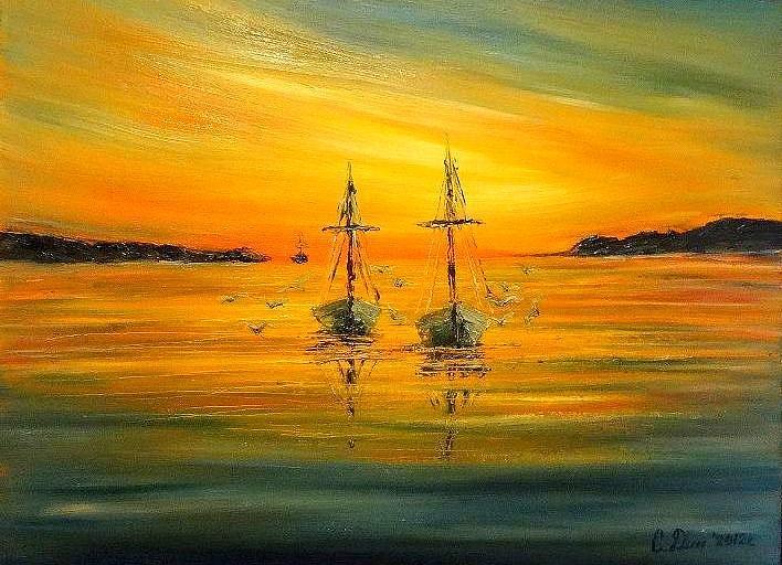 Landscapes Painting - Return by Svetla Dimitrova