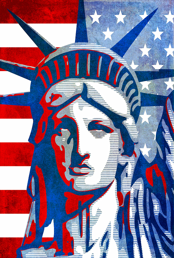 Reverse Mixed Media - Reversing Liberty 3 by Angelina Vick
