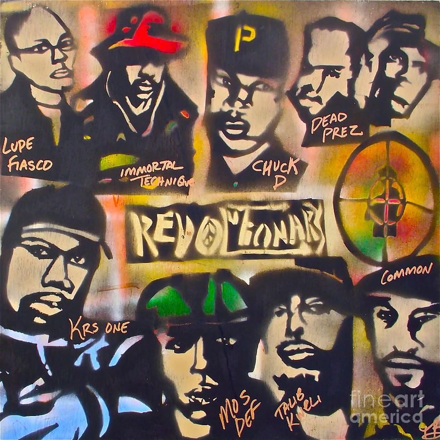 Revolutionary Hip Hop Painting  - Revolutionary Hip Hop Fine Art Print