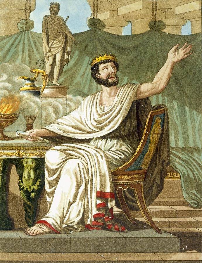 Ancient Rome Drawing - Rex Sacrificulus, Illustration by Jacques Grasset de Saint-Sauveur