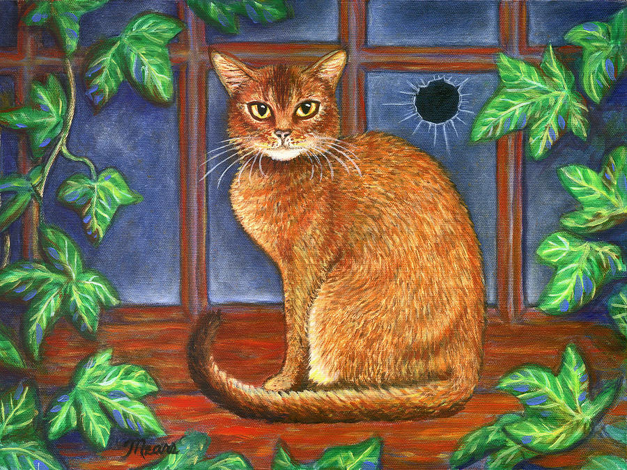 Rex The Cat Painting  - Rex The Cat Fine Art Print