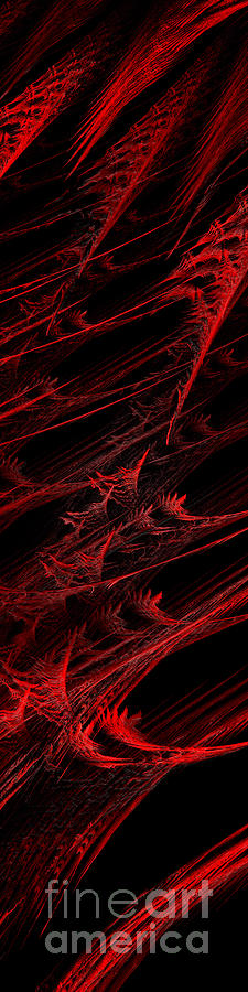 Rhapsody In Red V - Panorama - Abstract - Fractal Art Digital Art  - Rhapsody In Red V - Panorama - Abstract - Fractal Art Fine Art Print
