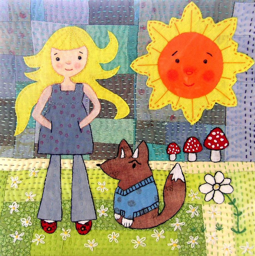 Rhian And Nog Tapestry - Textile