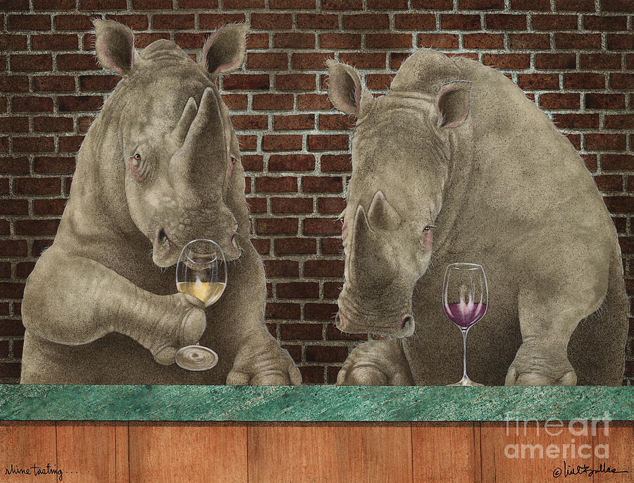 Will Bullas Painting - Rhine Tasting... by Will Bullas