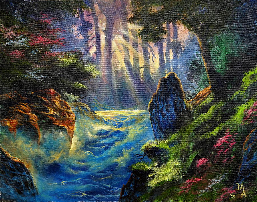 Landscape Painting - Rhythms Of A Vision by Marco Antonio Aguilar