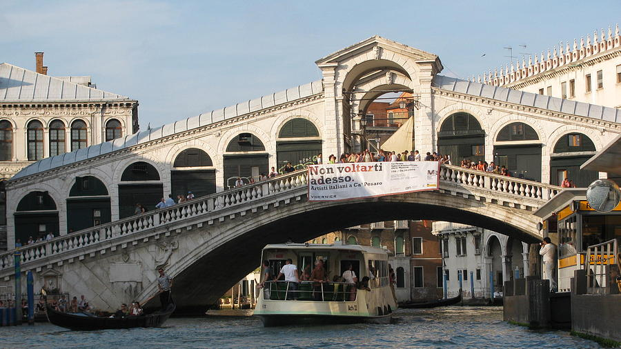 Photograph - Rialto Bridge Venice  by Suzy  Godefroy