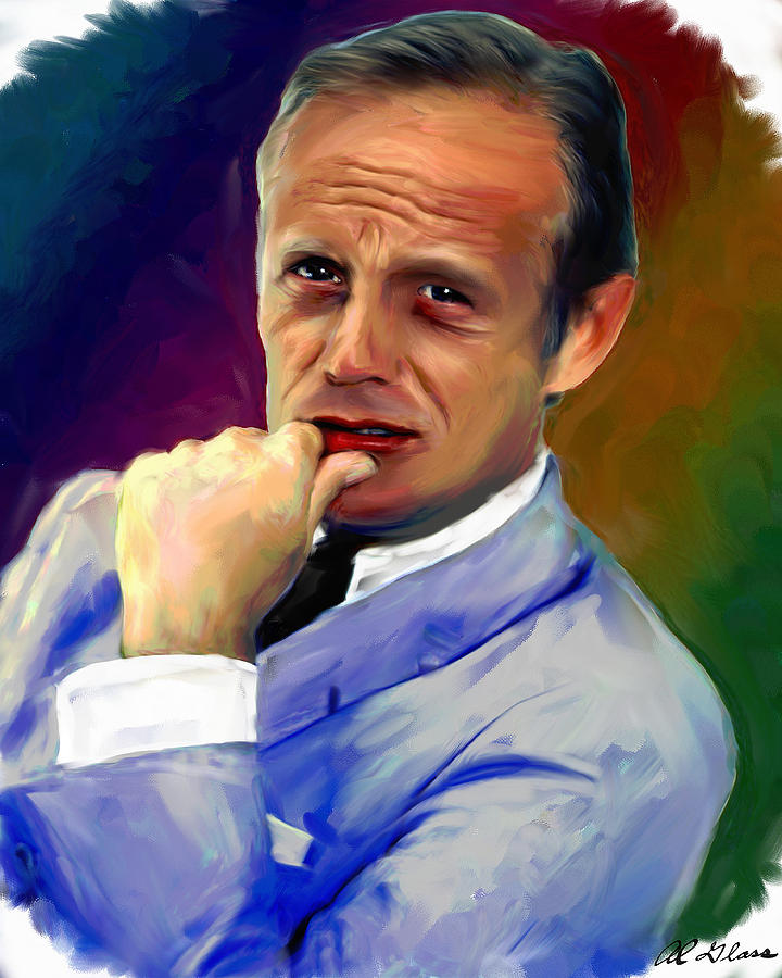 Richard Widmark Painting