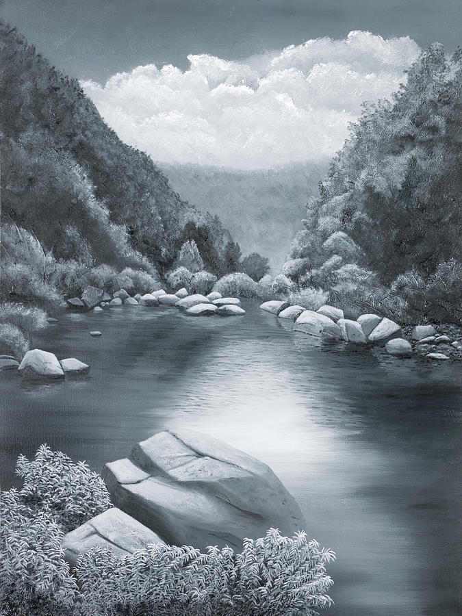 Ozarks Painting - Richland Creek by Garry McMichael