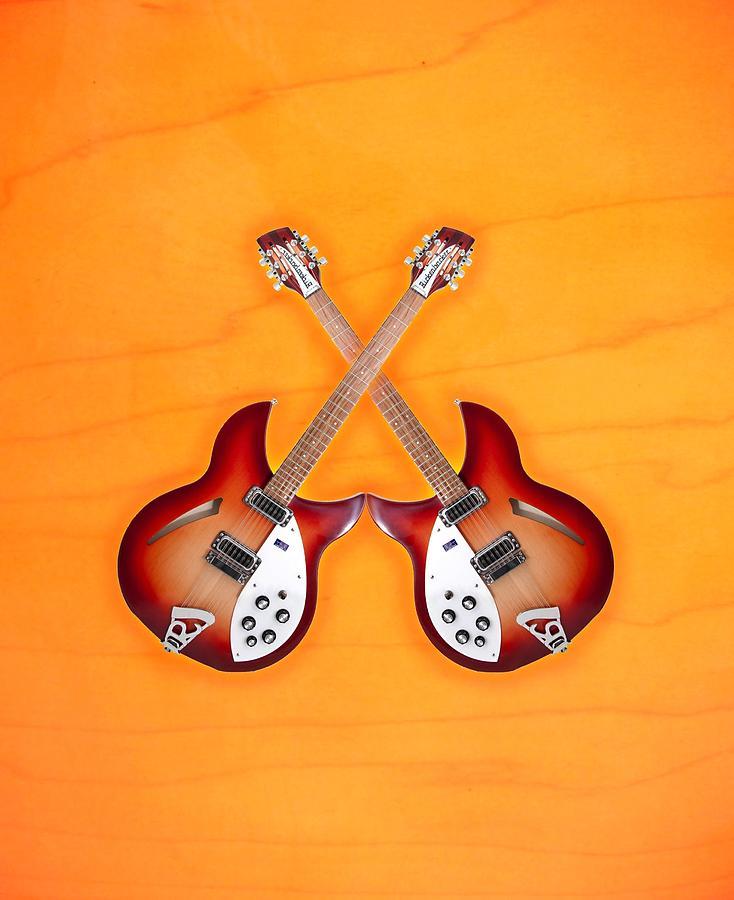 Rickenbacker Digital Art - rickenbacker 12-S guitar by Doron Mafdoos