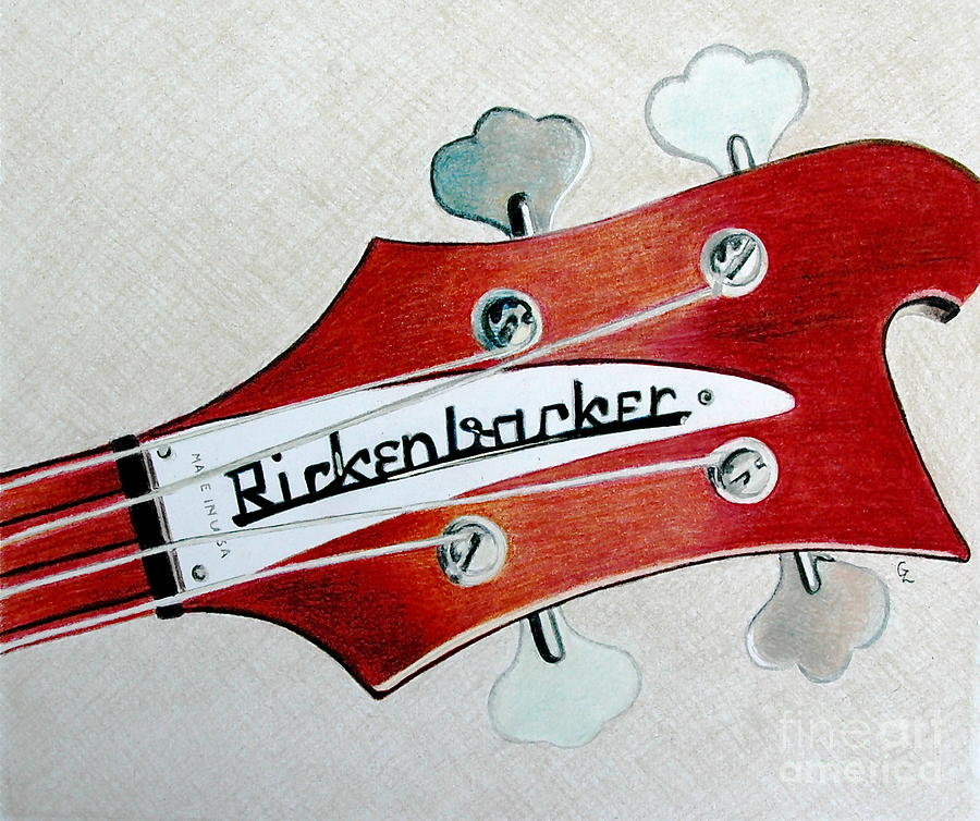 Rickenbacker Drawing  - Rickenbacker Fine Art Print