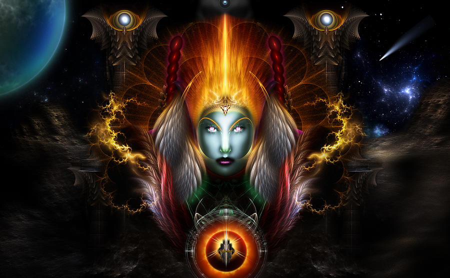 Riddian Queen Dynasty Of Power Digital Art