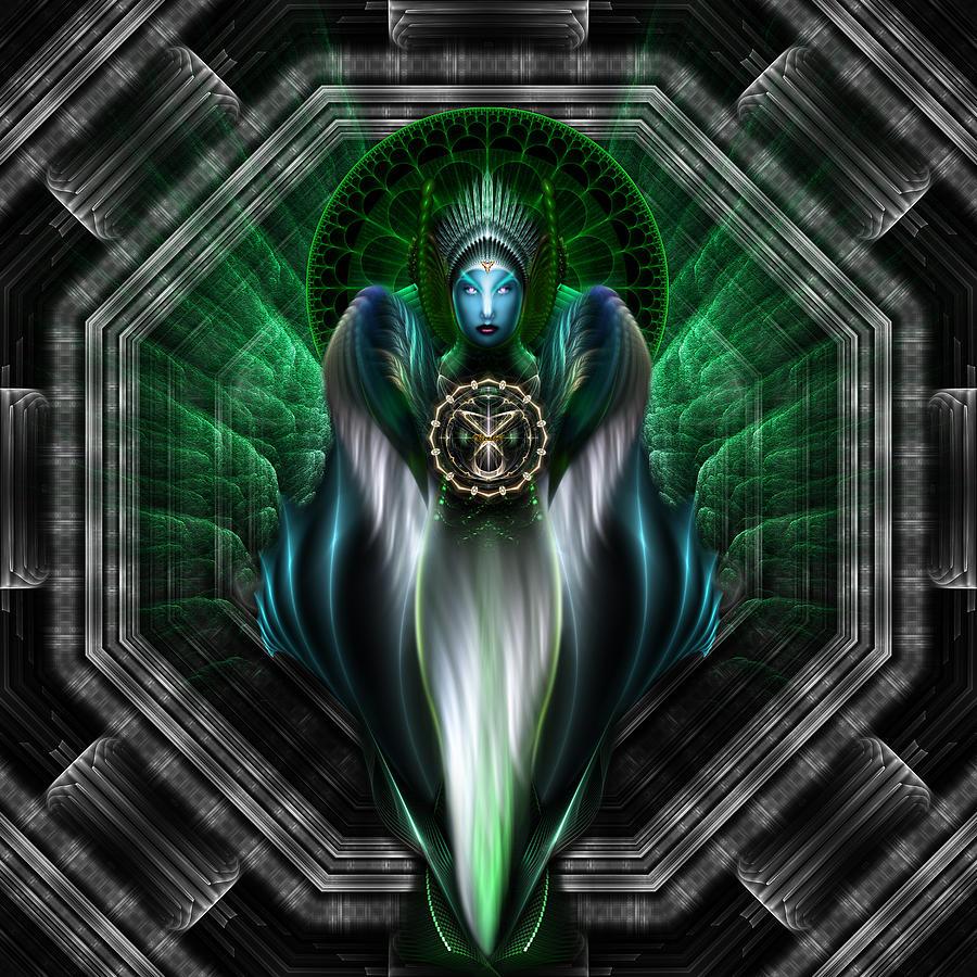 Riddian Queen Of Emerald Gold Digital Art