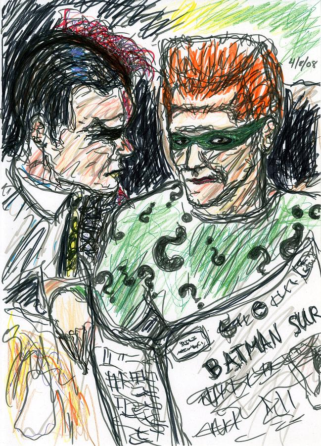 Riddler And Two-face Drawing