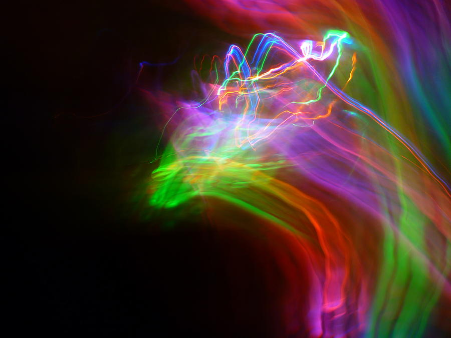 Abstract Light Photography Photograph - Rider by Sheldon Landa