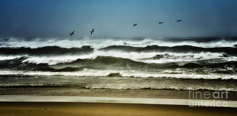 North Carolina Photograph - Riders On The Storm II - Outer Banks by Dan Carmichael
