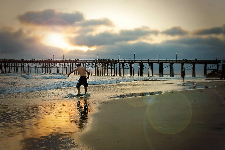 Oceanside Photograph - Riding Off Into The Sunset by Ann Patterson
