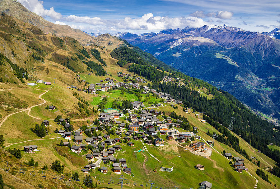 Swiss Alps Photograph - Riederalp Valais Swiss Alps Switzerland Europe by Matthias Hauser