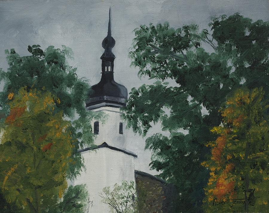 Landscape Painting - Riesa Germany by Robert Jenson