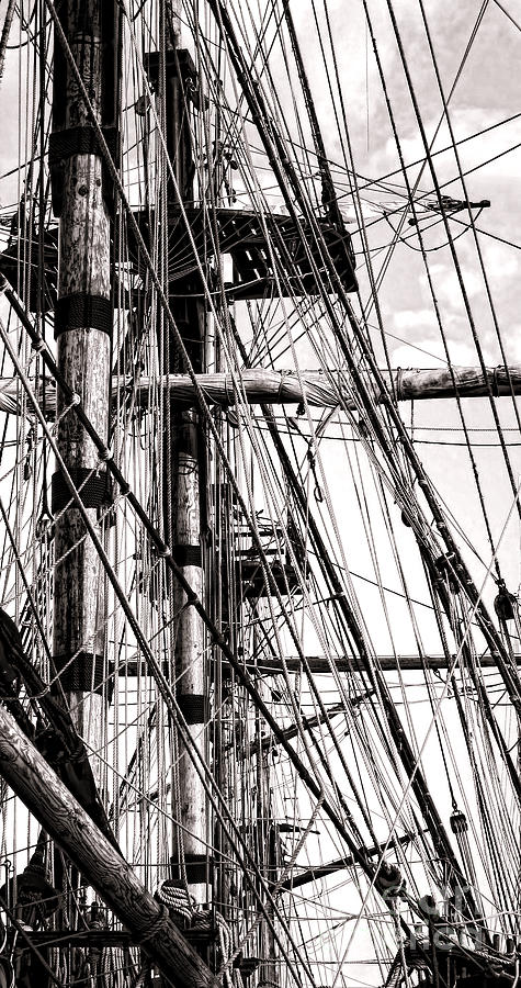 Sailing Photograph - Rigging by Olivier Le Queinec