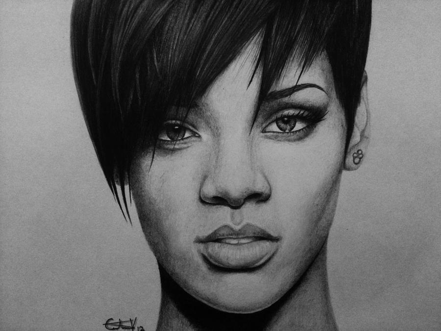 Rihanna is a drawing by Carlos Velasquez Art which was uploaded on ...