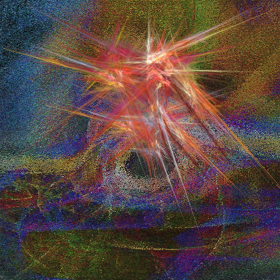 Fractal Digital Art - Ring Of Fire by Michael Durst