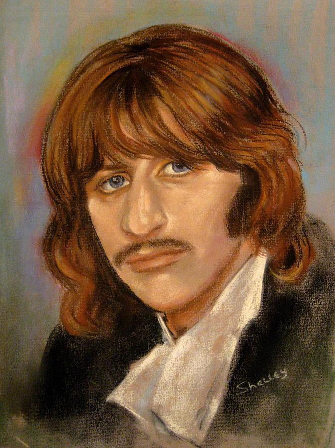 Beatle Portrait Pastel - Ringo by Shelley Phillips